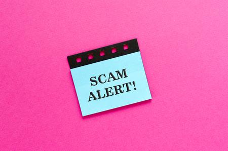 phishing scam on sticker Stock Photo - 116275400