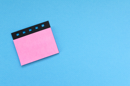 blank post it sticker on blue background