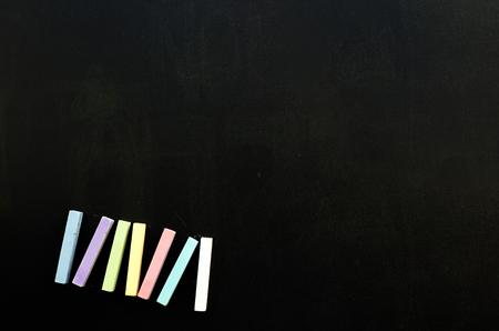 Chalks on a blackboard