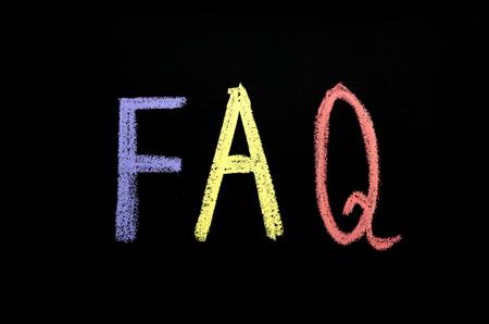 abbreviation FAQ on chalkboard