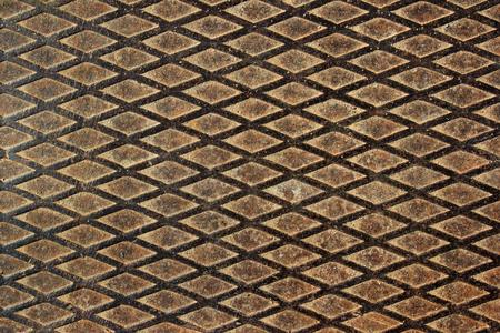 ironworks: Textured dirty brown worn metal ladder surface