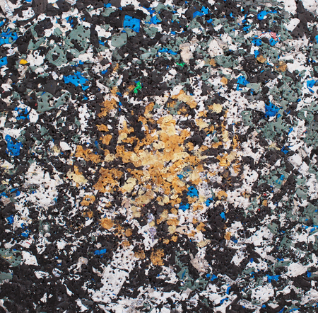 compacted: Pressed dense foam plastic trash texture background