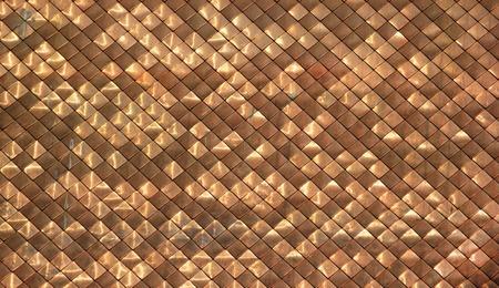shingles: Brillante tejas de cobre sucio patr�n techos de fondo Foto de archivo