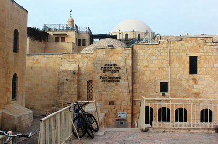 synagogues: Four Sephardic Synagogues in Jewish Quarter of Old City of Jerusalem, Israel