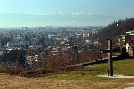 kutaisi: Panorama of Kutaisi, Georgia - view from the Bagrati Cathedral Editorial