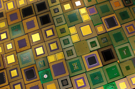 processors: Old CPU chips - computer processors background