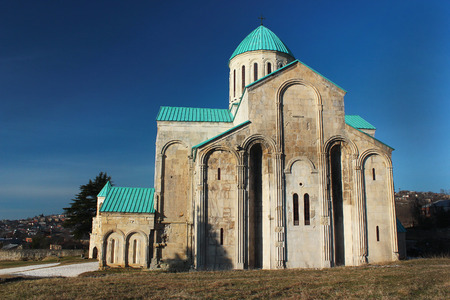 kutaisi: Renovated Bagrati Cathedral or The Cathedral of the Dormition in Kutaisi, Georgia
