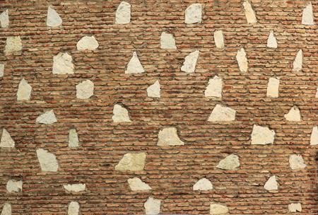 strong foundation: Old stone brick wall mosaic background. Rock slabs boulder masonry texture