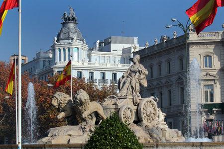 cibeles: Cibeles fountain at Plaza de Cibeles in Madrid, Spain Editorial