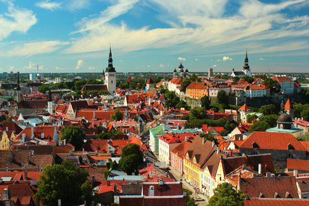 Old town of Tallinn, Estonia. View from Oleviste church.