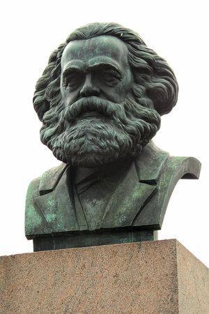 SAINT PETERSBURG, RUSSIA - JULY 6, 2017: Monument to Karl Marx, German philosopher, economist, and revolutionary socialist.