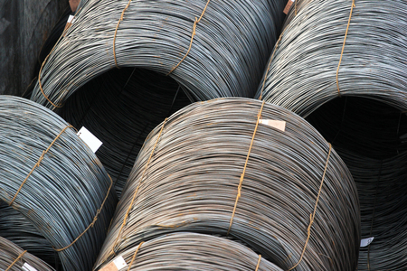 Bobinas de fio de aço Foto de archivo