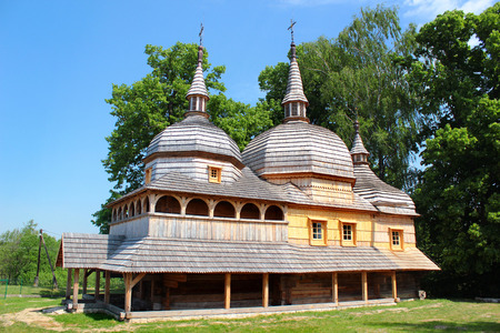 Wooden church of St. Paraskeva in Nowe Brusno, Eastern Poland