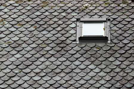 Traditional stone roof in Norway Stock Photo