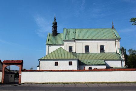 Stalowa Wola, Poland - April 29, 2018: The monastery of the Order of Friars Minor Capuchins, belonging to the parish of Stalowa Wola Rozwadow.