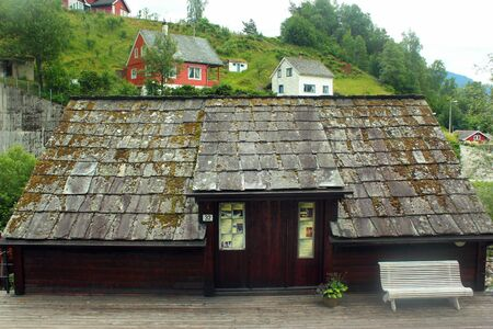 Ulvik, Norway - June 24, 2018: Skeie Mill, moved to Ulvik from Mulelven in Bergen about 1890, has its origin from 1600. Grain from all over Hardanger was processed here.
