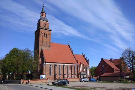Sepopol, Poland - May 6, 2019: View of Sepopol town in Bartoszyce County, Warmian-Masurian Voivodeship, Poland. Before 1945 it was part of Germany (East Prussia).
