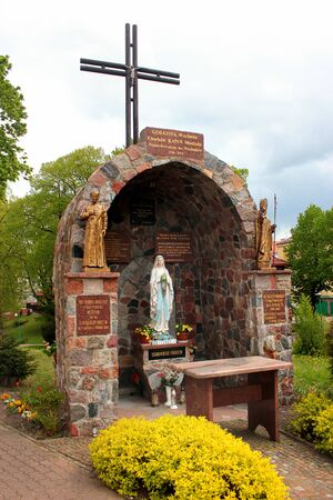 Goldap, Poland - May 4, 2019: Chapel at the Co-Cathedral of the Blessed Virgin Mary Mother of the Church in Goldap, Warmian-Masurian Voivodeship, Poland.