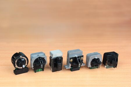 Old 9-pin and 24-pin dot matrix printer printheads