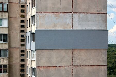 Outer thermal insulation of apartment in an high rise residential building Banco de Imagens