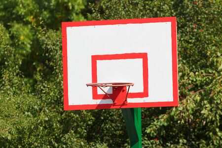 Empty basketball ring without basket