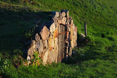 Root cellar in a countryside, Poland