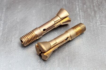 Brass hollow screws with different hole diameters