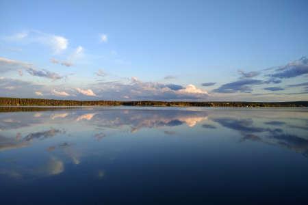 Pechenihy Reservoir near Verkhniy Saltiv village in Kharkov oblast, Eastern Ukraine. It was built to supply water to the city of Kharkiv. Banque d'images