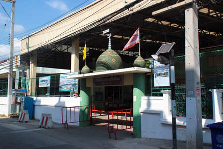 Chiang Mai, Thailand - December 3, 2019: Chang Khlan Mosque, main mosque of the old Muslim community, founded in 1949.