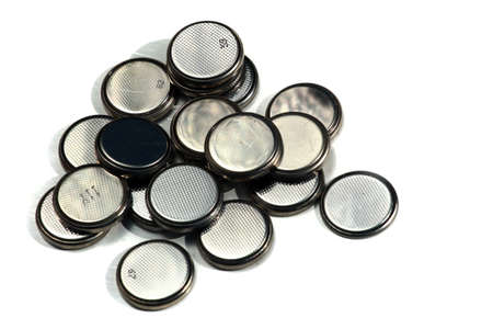 Standard lithium batteries, shiny button cells Zdjęcie Seryjne