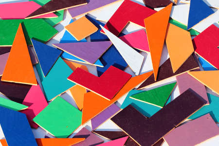 Geometric shapes, parts of a puzzle for children Zdjęcie Seryjne