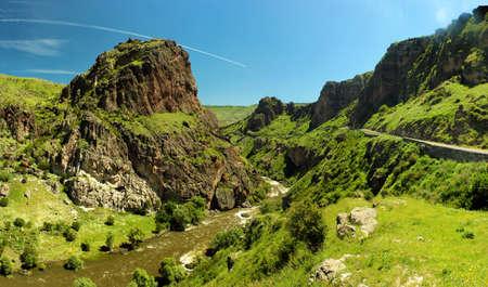 Mtkvari river gorge near Tmogvi in Samtskhe-Javakheti region of Southern Georgia Reklamní fotografie