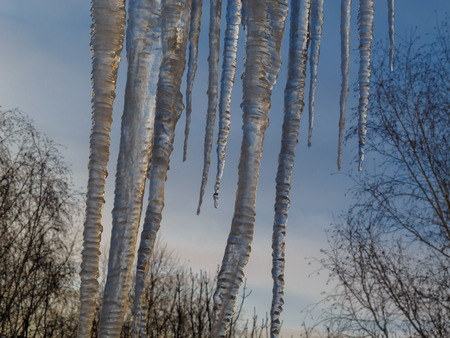 The sky icicles of ice