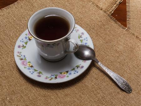 a cup of black tea Stockfoto