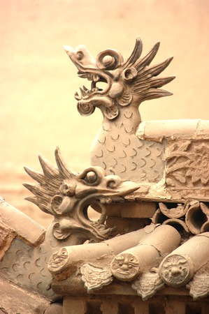 end times: Jiayuguan, west end of Great Wall, Gansu of China  Stock Photo