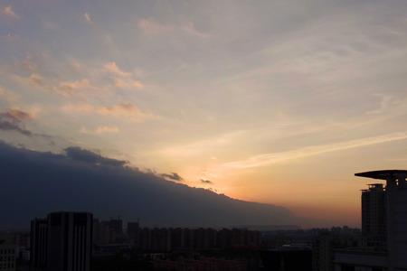 strange mountain: Shanghai discovered a mountain of strange Cloud Stock Photo