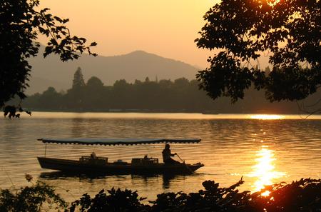 water feature: Hangzhou West Lake Stock Photo