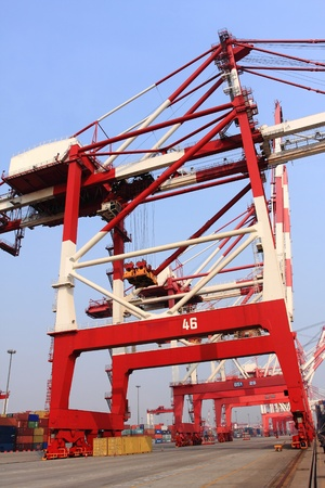 Container terminal Qingdao port of China photo
