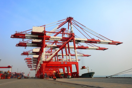 Container terminal Qingdao port of China photo