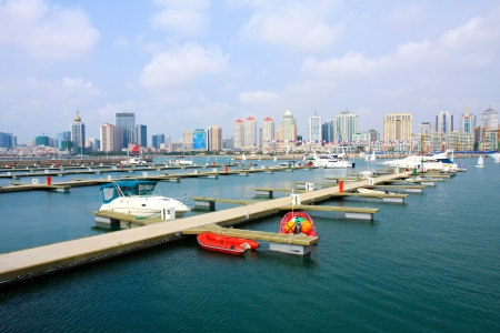 pleasure boat: 2008 sports competition games sailing event in Qingdao of China Stock Photo