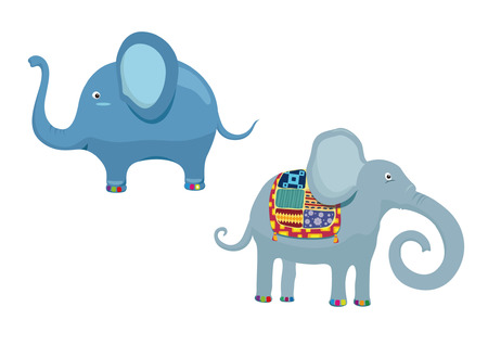 elephant cartoon: Cartoon elefante