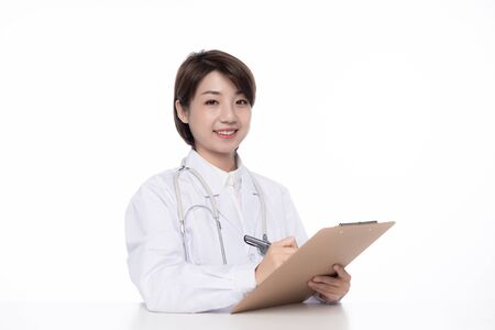 a pretty young female doctor 免版税图像