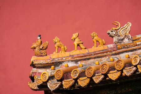 Beijing Forbidden City Building Decoration Editorial