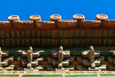 Beijing Forbidden City Building Decoration Stock Photo