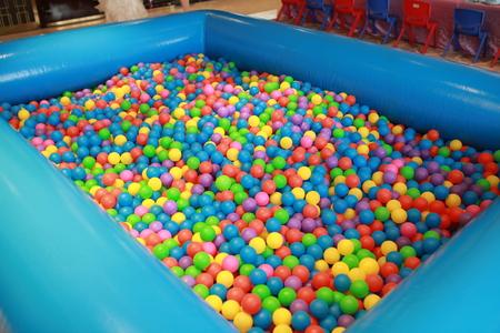 kindy: Pool full of colorful plastic balls