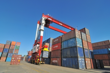 Container Yard Stock Photo - 16322952