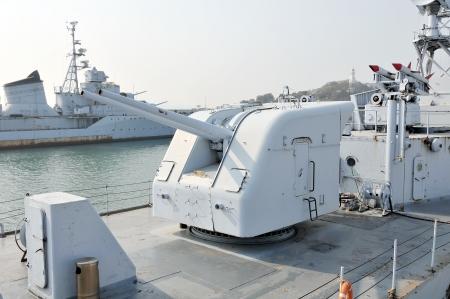 Warship artillery Stock Photo - 16322937