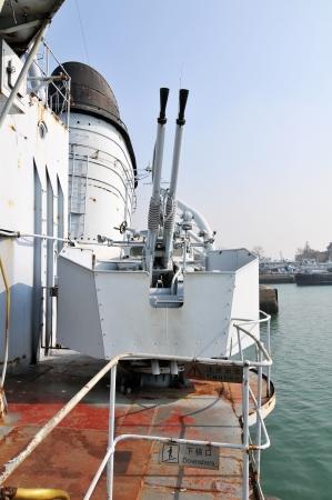 Warship artillery Stock Photo - 16322945
