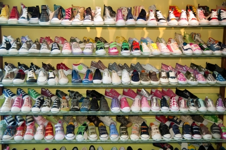 plimsoll: Shoe rack Editorial