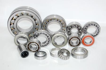 Closeup of deep groove ball bearings